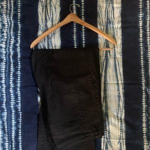 Marks & Spencer Black Straight Leg Tall Jeans